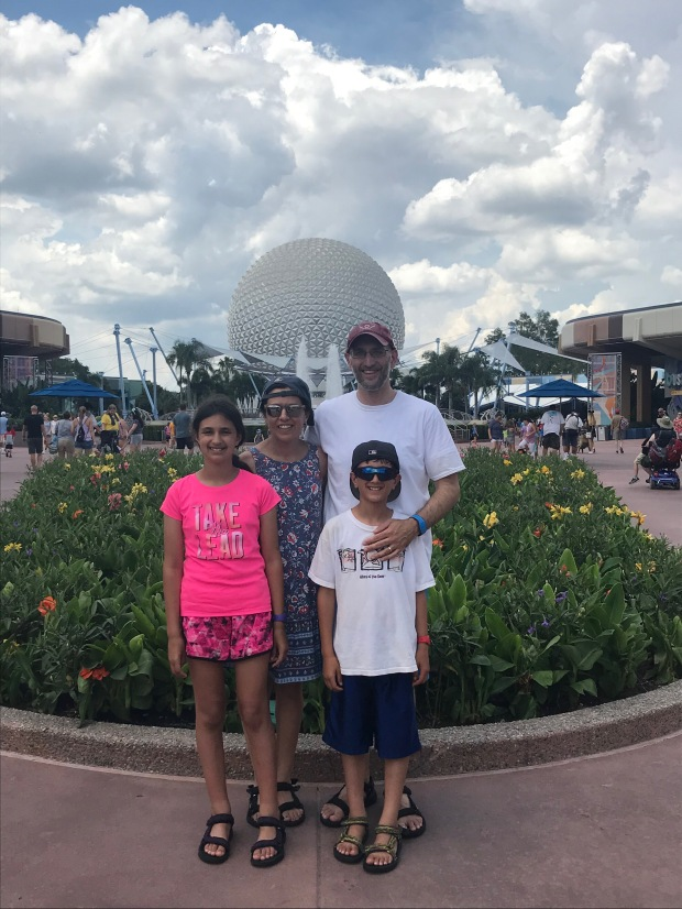 My family at Epcot Center in Disney World, summer 2018